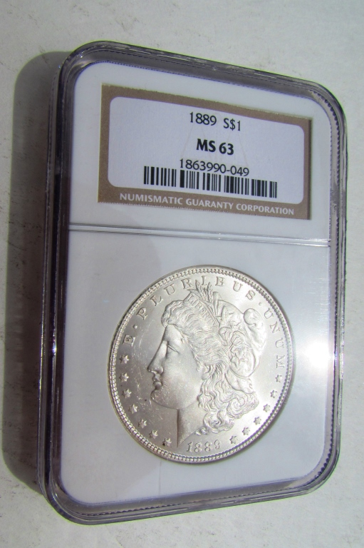 1889 SILVER DOLLAR NGC MS-63 CERTIFIED MORGAN