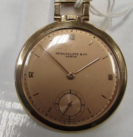 Patek Philippe18k Rose Gold Deco Pocket Watch