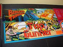 4 Marquee Arcade Glass Top Gunner Leman Tripool