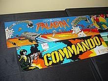 4 Marquee Arcade Glass Paladin Avengers Commando