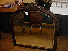 Victorian Walnut Mantle Mirror