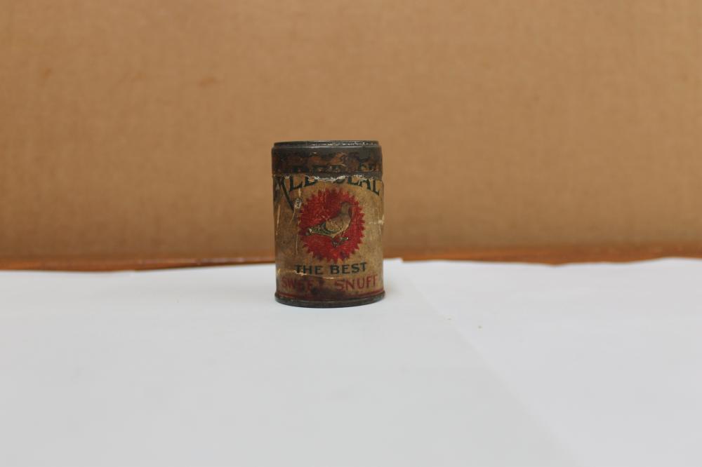 Red Seal Snuff Tin W/Bird Sample