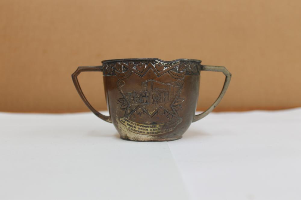 Chocago Worlds Fair 2 Handled Cup