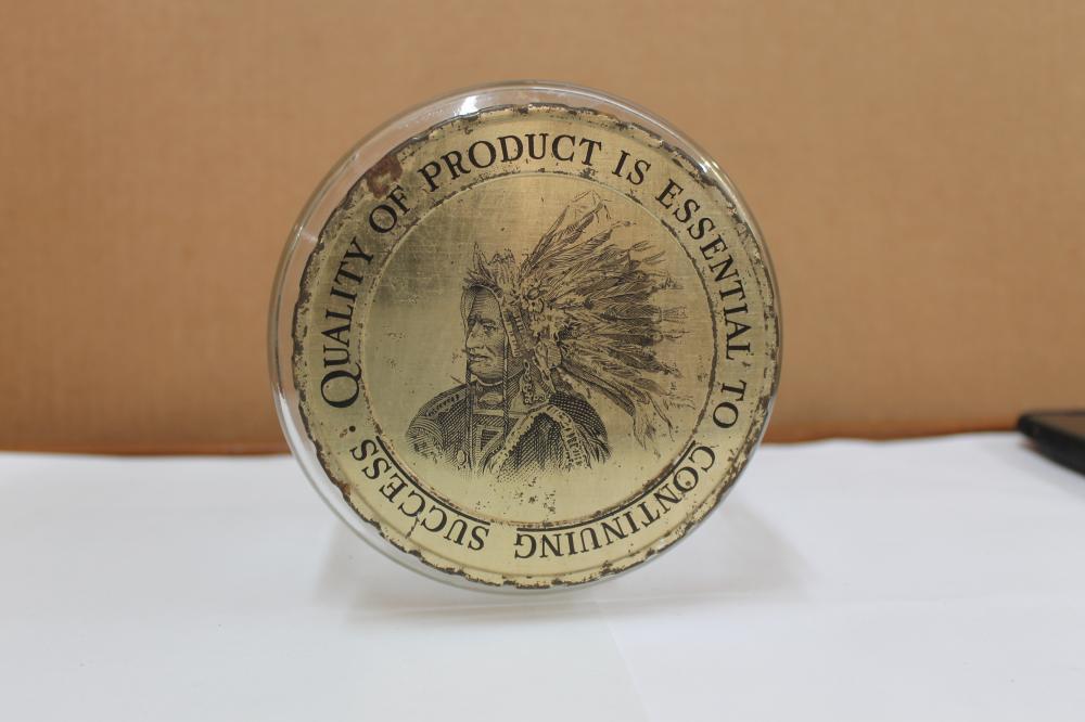 Cigar Jar with Indian headress