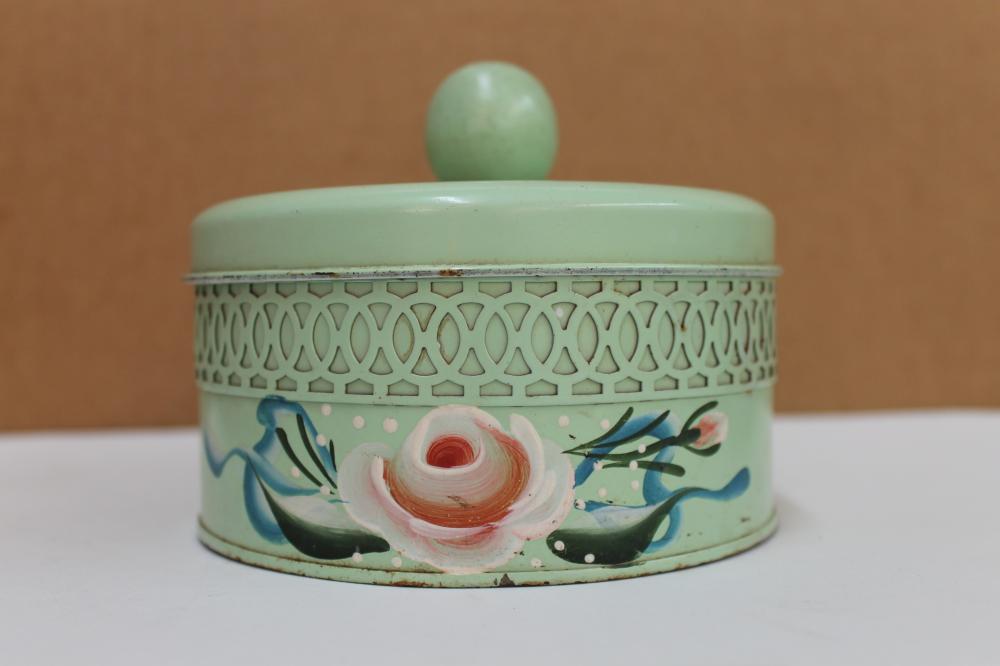 Green Powder Box Tin