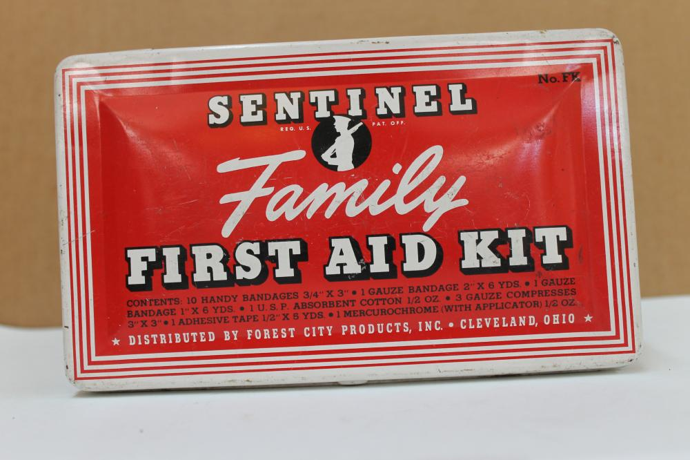 First Aid Kit Box Tin