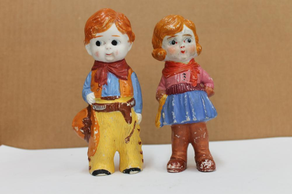 Ceramic Cowboy & Cowgirl