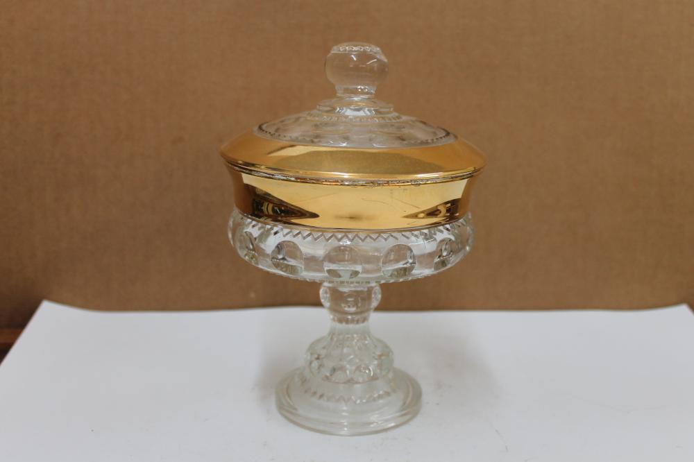 King's Crown Glass Dish