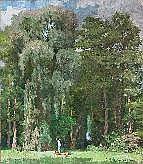 ACHTENHAGEN, AUGUST (1865-1938) Park. Auf der