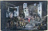 KORBER, WILHELM (Berlin 1902-1991) Bühnenszene zu