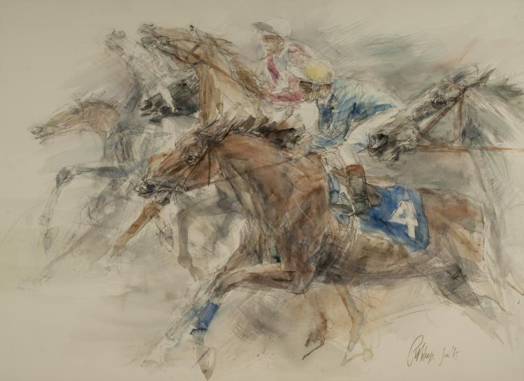 RACING, JUNE '85 by Piet Klaasse (Dutch, 1918–2001)