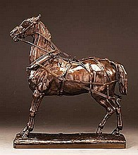 Gayrard, Joseph Raymond Paul - Carriage Horse, Bronze, 12 3/4 x 4 x 11 1/4