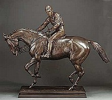 Bonheur, Isidore Jules - Le Grand Jockey, Bronze, 39 1/2 x 43 x 10