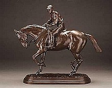 Bonheur, Isidore Jules - Horse and Jockey, After the Race 1879, Bronze, 13 3/4 x 15 3/4 x 4 1/2