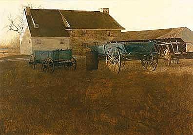 Wyeth, Andrew - Marsh Hawk, Tempera on masonite, 30 1/2 x 45