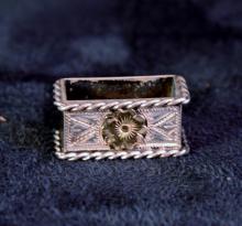 Silver & Gold Belt Keeper