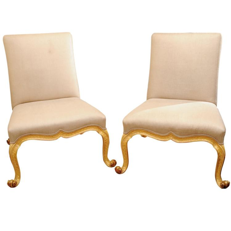 Pair Early Georgian Style Chairs