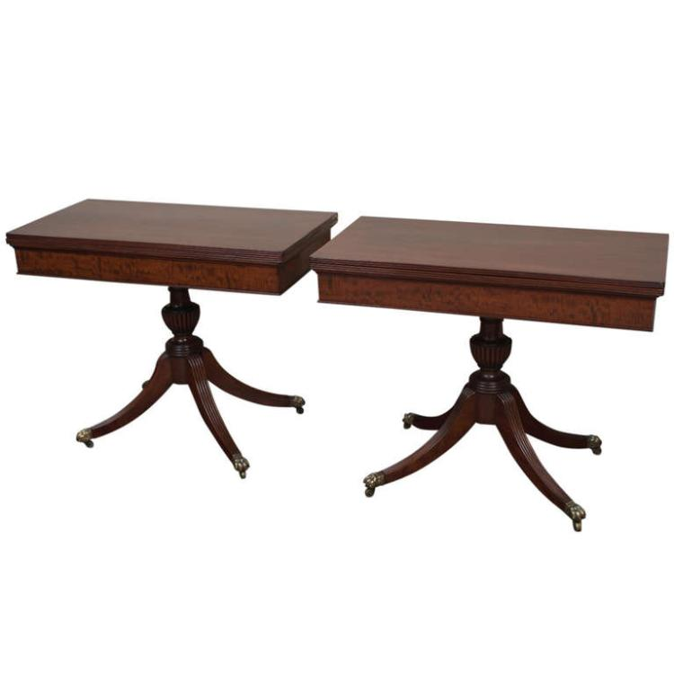 Pair of Outstanding Baltimore Federal Card Tables