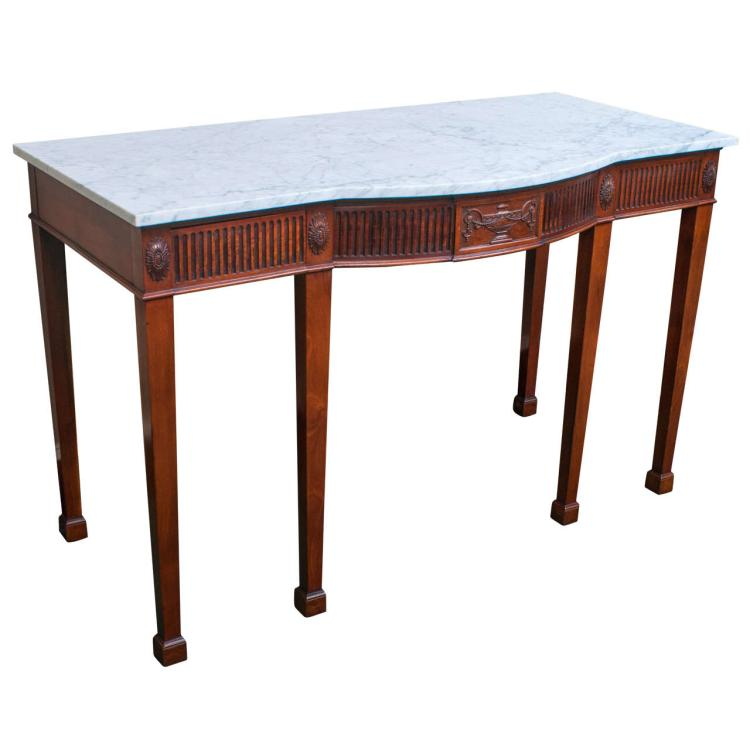 Adam Style Bow Front Server or Console Table