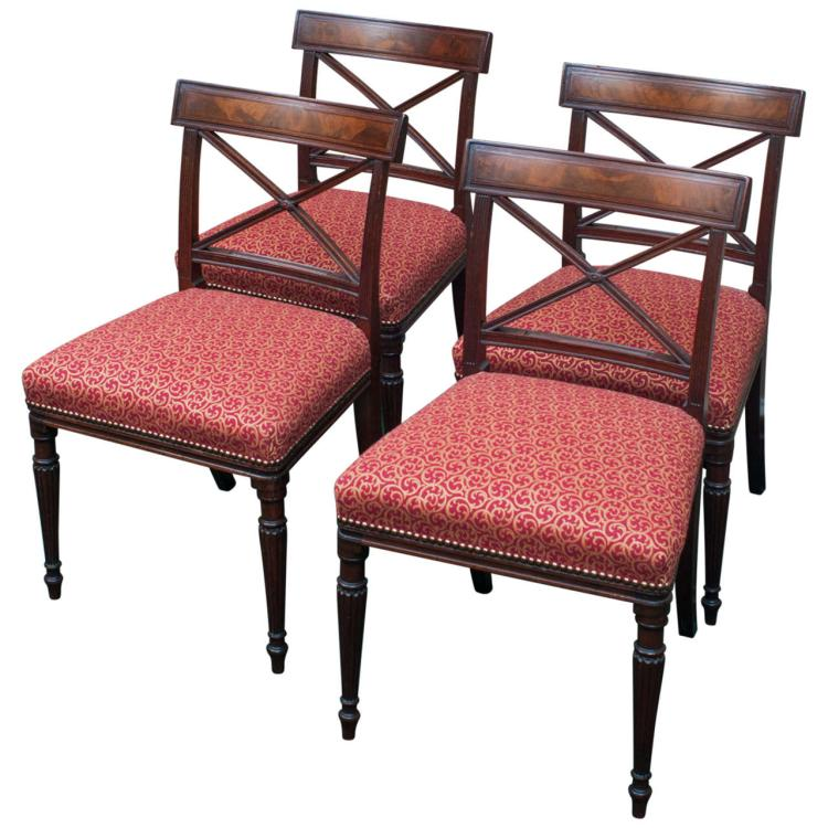 Set of Four Regency Chairs