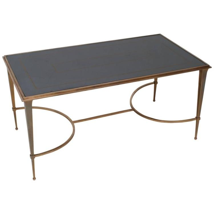 Maison Ramsay Bronze Coffee Table with Mirrored Top