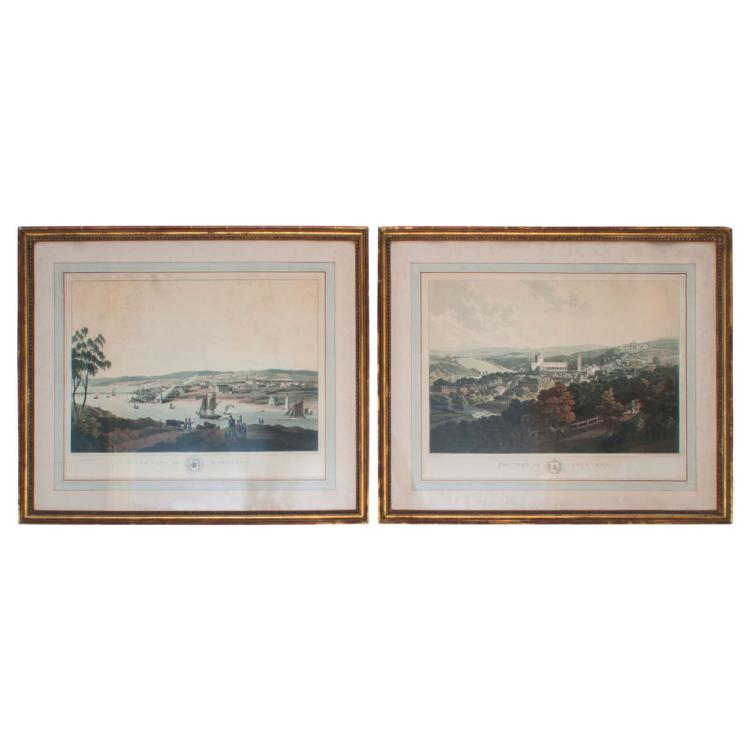 Pair of Engravings of Scottish Villages