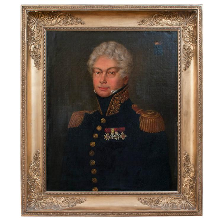 Painting - A Napoleonic Era Officer in Uniform