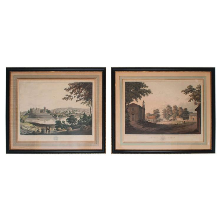 Pair of Engravings of Scottish Villages