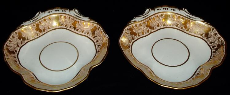 Pair of Derby Shell Dishes