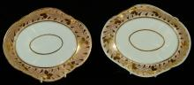 Pair of Derby Oval Dishes