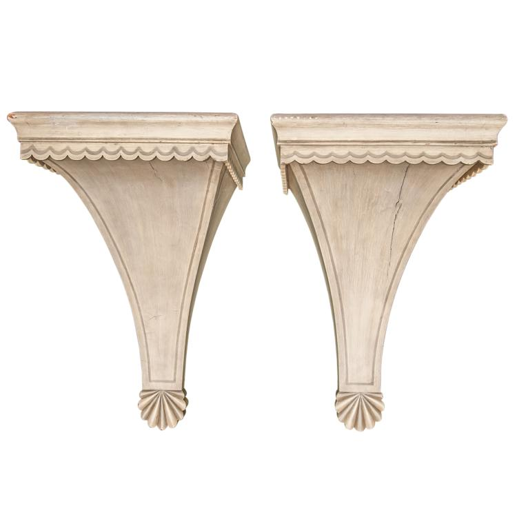 Pair of Painted Brackets