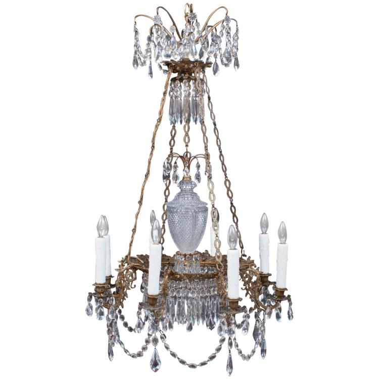 Period Swedish 8-Light Chandelier