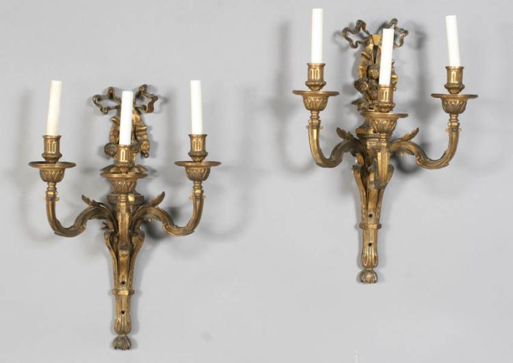 Pair of Neo-Classic Style Sconces