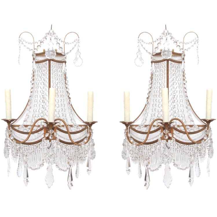 Pair of Large Neo-Classic Style Sconces