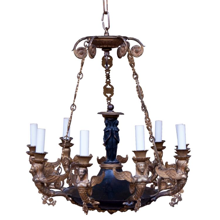 Nine Light Empire Chandelier