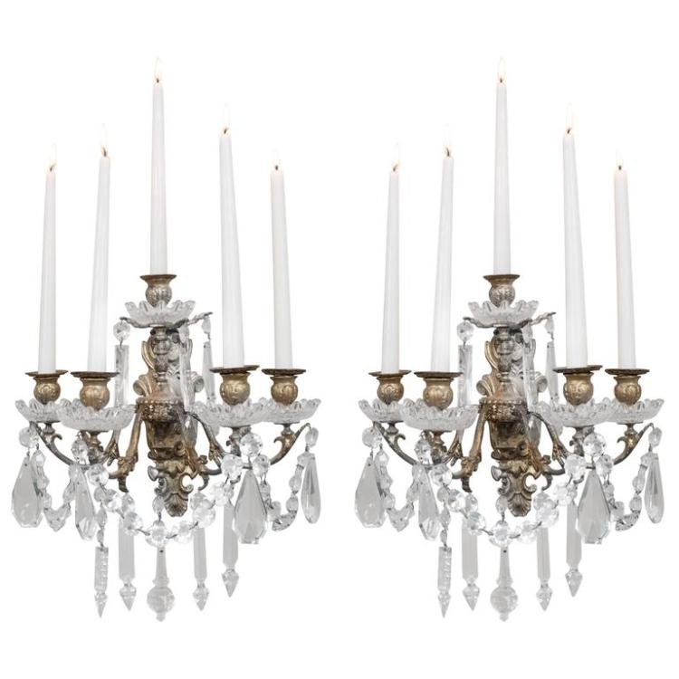 Pair of Rococo Style Sconces
