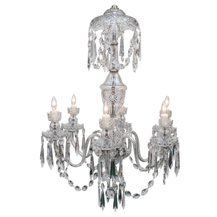 Waterford 6-Light Crystal Chandelier