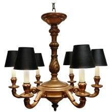 Six-Light Giltwood Chandelier