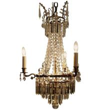 Swedish Neoclassical Chandelier