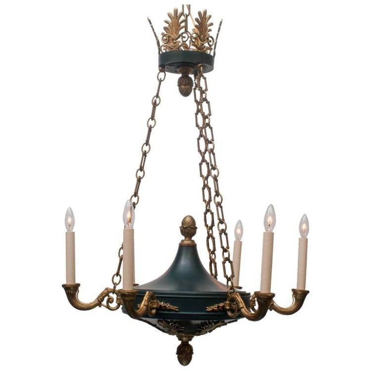 Six-Light Empire Style Chandelier