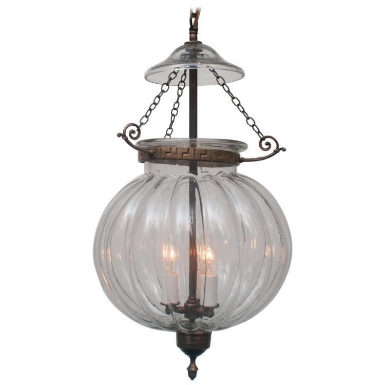 Large Clear Pumpkin Hall Lantern