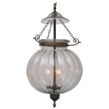 Large Clear Pumpkin Hall Lantern
