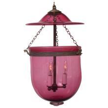 Cranberry Bell Jar Lantern