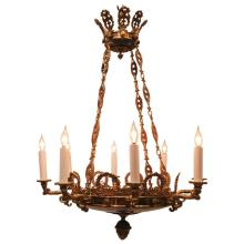 Empire Style Eight-Light Chandelier