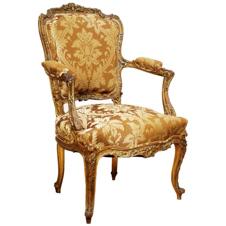 Louis xv style fauteuil or armchair - Fauteuil style louis xv ...