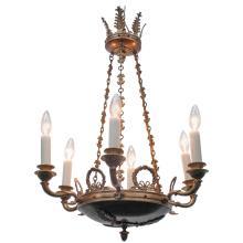 Empire Style Brass Chandelier