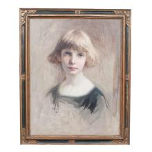 Oil on Canvas, Young Girl
