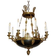 Eight-Light Empire Style Chandelier