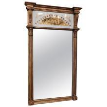 Neoclassical Églomisé Panel Mirror