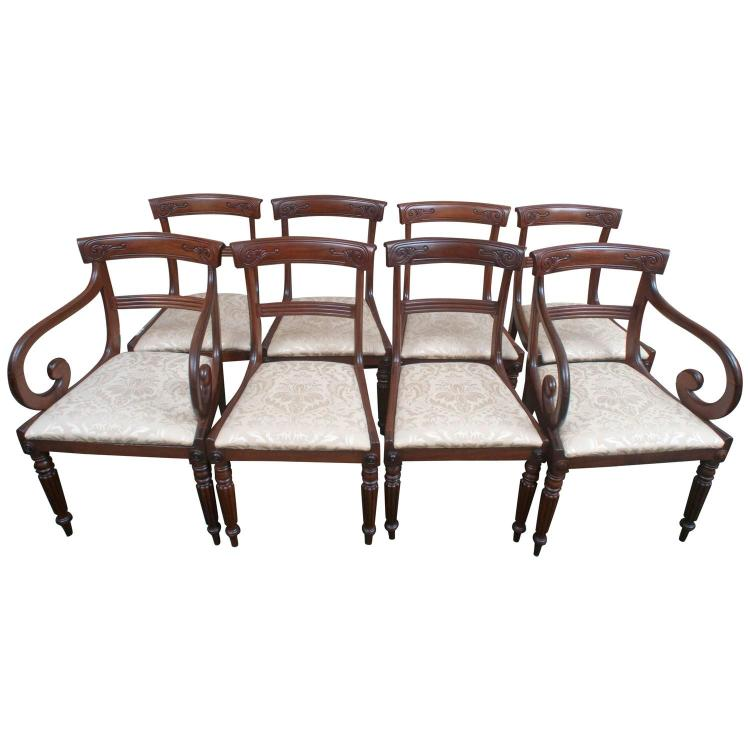 set of 8 dining chairs. Black Bedroom Furniture Sets. Home Design Ideas